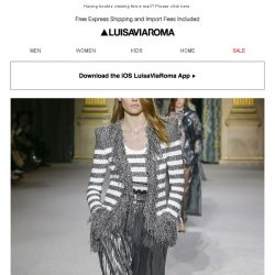 [LUISAVIAROMA] Into the future with new arrivals from Balmain