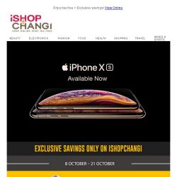 [iShopChangi] Apple is now available on iShopChangi