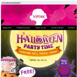 [SaSa ] 【Halloween Party!】Over 500 Hot Items Up to 87% off! Bring them home NOW!