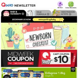 [Qoo10] Awesome Mid Week Deals! Enfagrow Single Tin $51.95 & Free 2 River Safari Tickets | Philips Avent Pacifier $8.80 | Engraving Utensils $2.50!