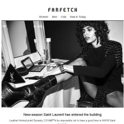 [Farfetch] New Saint Laurent is here. Stop and shop