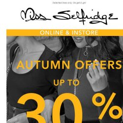 [Miss Selfridge] UP TO 30% OFF 👀
