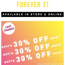 [FOREVER 21] OUR SALE'S ON SALE!