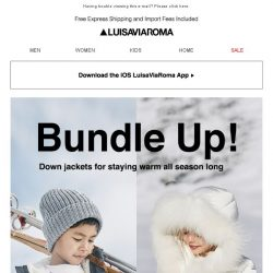 [LUISAVIAROMA] The cutest down jackets for kids....