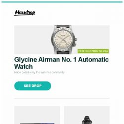 "[Massdrop] Glycine Airman No. 1 Automatic Watch, Sony 55/65"" 4K UHD Smart Bravia OLED TV (2018), Arozzi Verona/Verona Pro Series Gaming Chairs and more..."