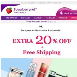 [StrawberryNet] 🚨 ONLY 24 HRS LEFT! Don't Miss Extra 20% Off + FREE Shipping