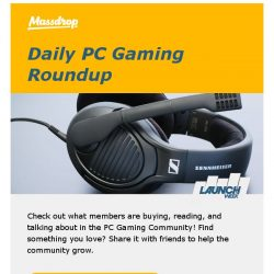 [Massdrop] What's trending in the PC Gaming Community