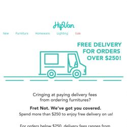 [HipVan] Here's How To Get Free Delivery!