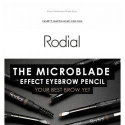 [RODIAL] NEW Microblade Effect Eyebrow Pencil