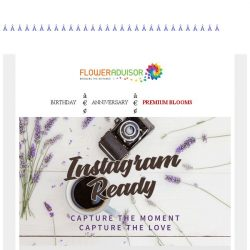 [Floweradvisor] Share your romantic moment to the world with Instagram-Ready blooms!