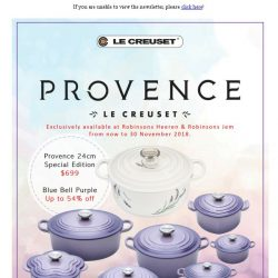 [LeCreuset] Le Creuset - Robinsons Provence Cast Iron Collection Exclusive - Limited Edition