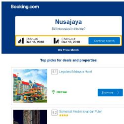[Booking.com] Deals in Nusajaya from S$ 19