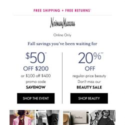 [Neiman Marcus] $50 or $100 off sweaters, jackets & more