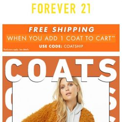 [FOREVER 21] Autumn Coats from $24.90