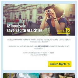 [cheaptickets.sg] ⚡72-hr sale | Get $20 OFF instantly