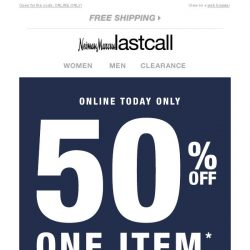 [Last Call] YOU'VE WON! Extra 50% off for 1 DAY!