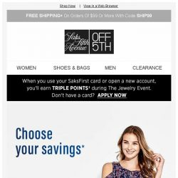 [Saks OFF 5th] Want up to 70% off? You choose!