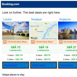 [Booking.com] London, Nusajaya and Singapore -- great last-minute deals as low as S$ 19!