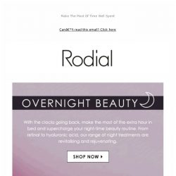 [RODIAL] 30% Off Night Treatments 🕒