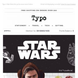 [typo] The force is strong this season.