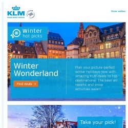 [KLM] Last chance to book our Winter deals!