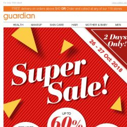 [Guardian] ⭐ Guardian Super Sale is back! Up to 60% off