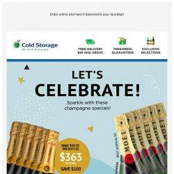 [Cold Storage] 🎉 Champagnes for a Sparkling Celebration - Buy More, Save More! 🎉