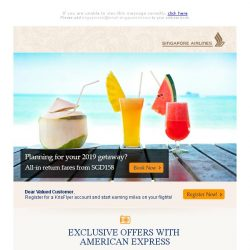 [Singapore Airlines] Only 6 days left to book your 2019 getaway