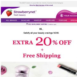 [StrawberryNet] 😮 LAST DAY & Last Chance for Extra 20% Off + FREE Shipping
