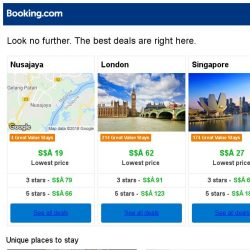 [Booking.com] Nusajaya, London, or Singapore? Get great deals, wherever you want to go