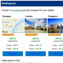 [Booking.com] Prices in Nusajaya are dropping for your dates!