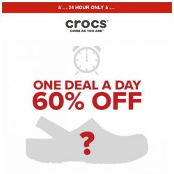 [Crocs Singapore] 【1 DEAL 1 DAY 】 One pair👡 60% off for TODAY ONLY!