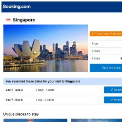 [Booking.com] Deals in Singapore from S$ 30