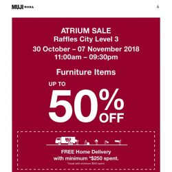 [Muji] MUJI Atrium Sale: Enjoy up to 50% Furniture Savings!