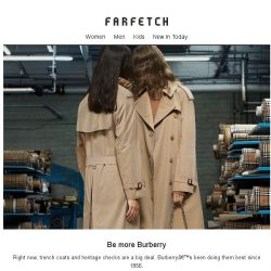 [Farfetch] New trench? Into checks? Shop Burberry