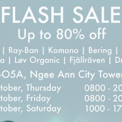 On The List: Flash Sale with Up to 80% OFF Oakley, Ray-Ban, Bering, Fjällräven & More at Ngee Ann City!