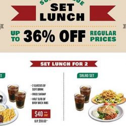 Tony Roma's: Save Up to 36% on Super Value Weekday Set Lunches at Suntec City!