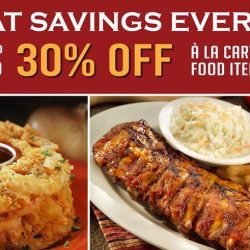 Tony Roma's: Enjoy Up to 30% OFF on A la Carte Food Items with EDM!