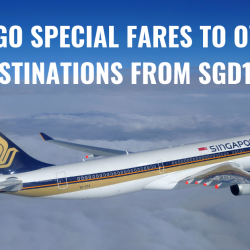 Singapore Airlines: NEW 2-to-Go Sale Fares to over 80 Destinations from SGD158!