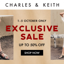 Charles & Keith: Exclusive Sale with Up to 50% OFF Shoes, Bags & Accessories