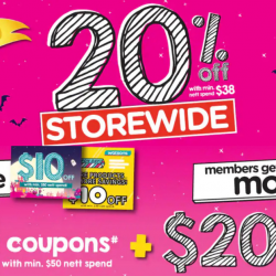 Watsons: 4-Day Only Storewide Sale @ 20% OFF + Members-Only $40 Coupons Giveaway!
