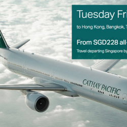 Cathay Pacific: Tuesday Friend Fares to Hong Kong, Bangkok, Taipei, Seoul & More from S$228 All-in!