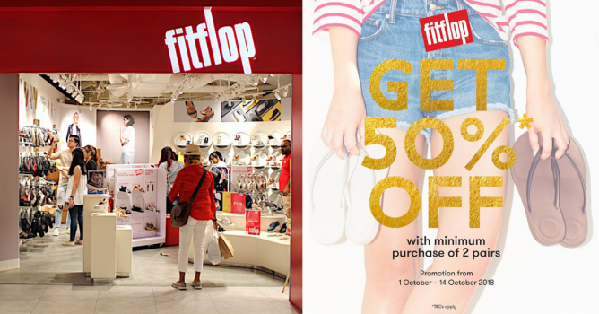 68f9f3bb1 Till 14 Oct 2018 FitFlop  Enjoy 50% OFF with Minimum Purchase of 2 Regular-Priced  Items!