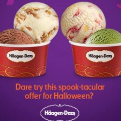 Häagen-Dazs: Buy 1 Double Scoop Ice Cream & Get Another FREE!