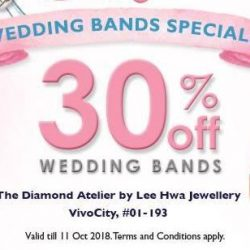 Lee Hwa Jewellery: 48th Anniversary Sale with 30% OFF Wedding Bands