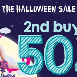 Watsons: The Halloween Sale with 2nd Buy at 50% OFF, $20 Coupons, 2 for 20% OFF & 3 for 25% OFF Offers!