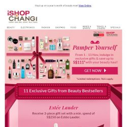 [iShopChangi] 11 days of Gifts & S$111 Savings✨