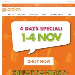[Guardian] 🔔 4 Days Special has arrived! GRAB THEM ALL!