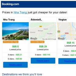 [Booking.com] Prices in Nha Trang are dropping for your dates!