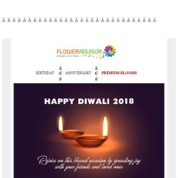 [Floweradvisor] 3 Days to Diwali. Haven't prepared your gift yet?